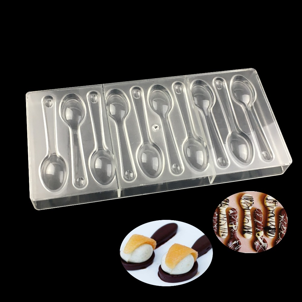Spoon Shape Polycarbonate Chocolate Mold Candy Molds Jelly ...