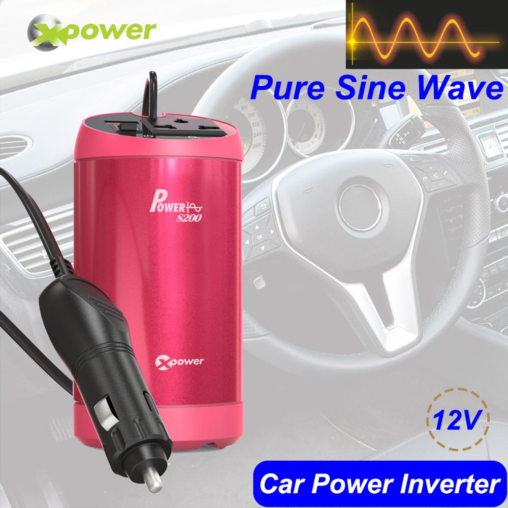 XP Car Pure Sine Wave Power Inverter DC 12V to AC 220V 230V 150W 50Hz Auto Voltage Converter Battery Inverters with <font><b>Air</b></font> Purifier