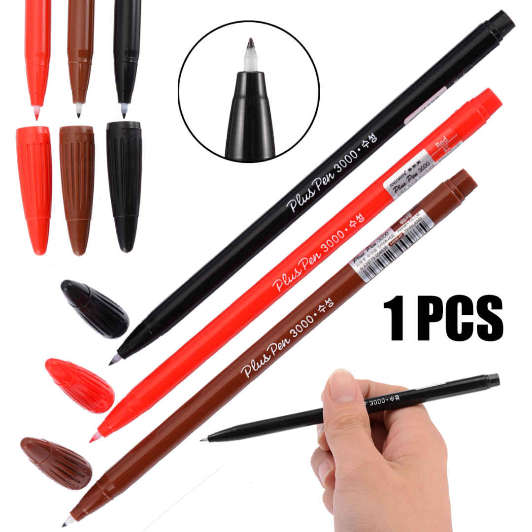Shellhard 1pc Waterproof Microblading Makeup Eyebrow 3 Colors Professional Permanent Lip Liner Positioning Skin Marker Pen