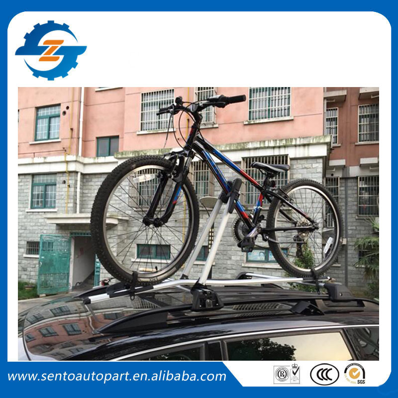 Universal Black silver color aluminium car roof bike rack carrier for car have cross bar ...