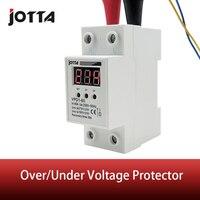40A 220V automatische reconnect overspanning en onder spanning bescherming beschermende apparaat relais met Voltmeter voltage monitor