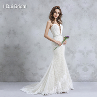 Front Strap Sweetheart Wedding Dress A line Lace Appliqued Jewel Beaded Belt High Quality Bridal Gown 2018 New