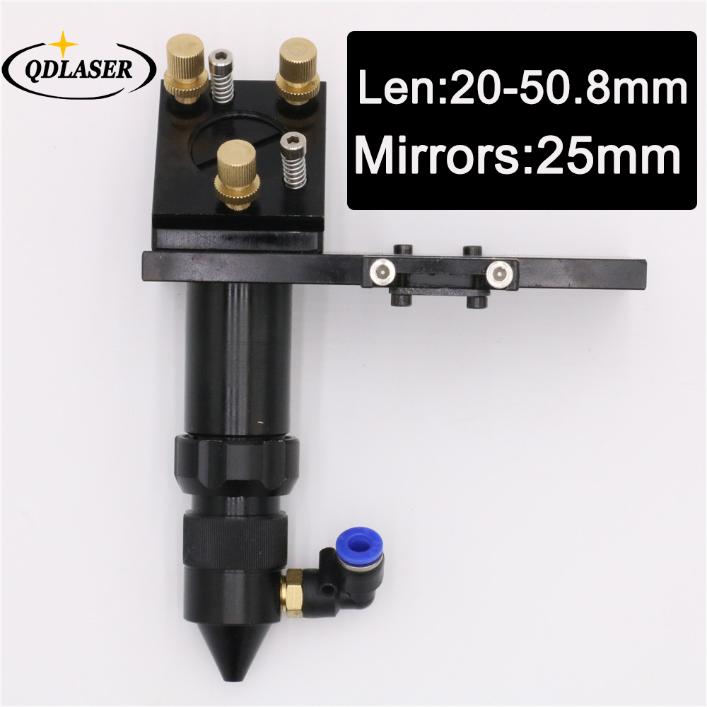 CO2 Laser Head for Focus Lens Dia.20 FL.50.8 & Mirror 25mm Mount with Laser Engraving and Cutting Machine cdm12 1 15 l1210 41 loader vam1202 vam1201 with mechanism core cd vcd laser lens head l1210 cdm12 1 cdm12 2