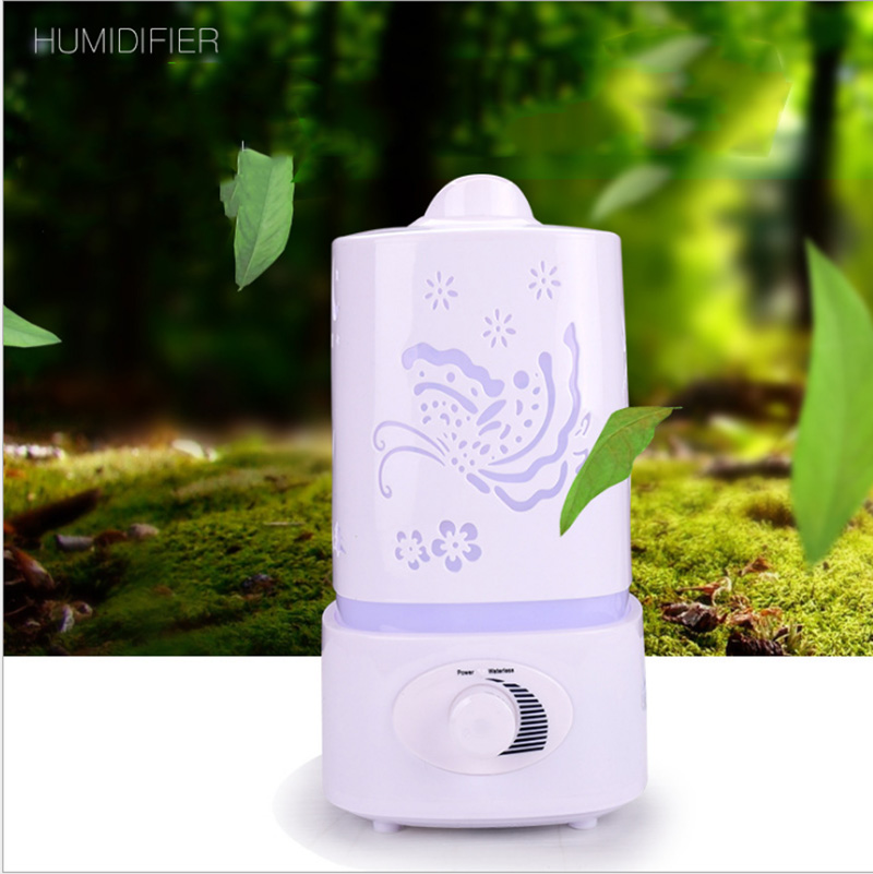 Aromatherapy Air Humidifier Fogger LED Night Light With Carve Aroma Diffuser Mist Maker Diffuser for Home Office new led usb humidifier mini aroma diffuser air humidifiers with aroma lamp aromatherapy diffuser mist maker with led light 220ml