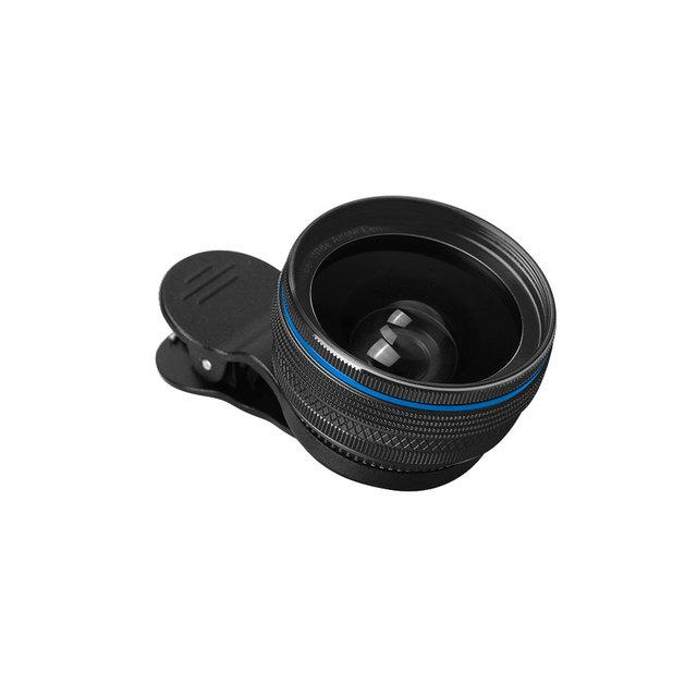 Nueva 0.45x lente gran angular + lente de la cámara macro para iphone samsung xiaomi alta calidad kits