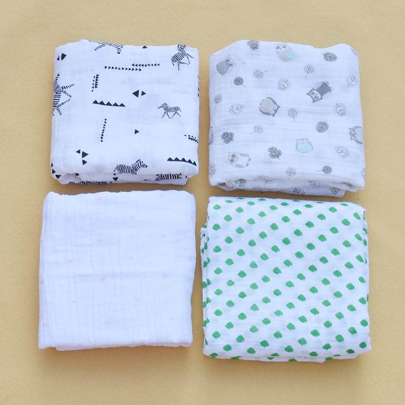 Mousseline Bébé Couvertures Literie Couette Infantile Coton Swaddle Wrap Enfants Serviette De Bain Multifonctionnel Enveloppe Nouveau-Né Recevant la Couverture