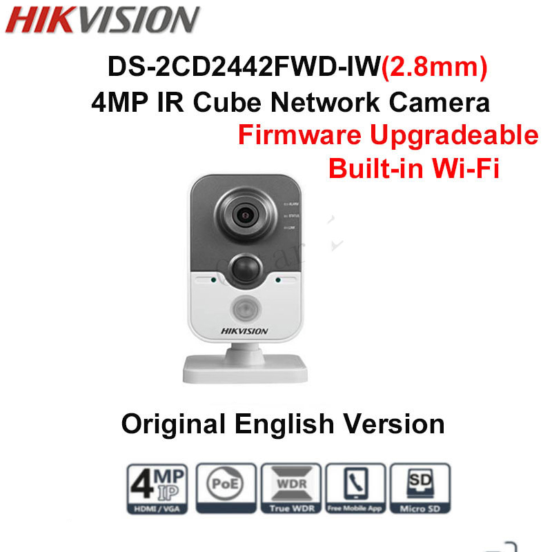 Hikvision English Version DS-2CD2442FWD-IW 4MP IR Cube Network Camera cd диск fleetwood mac rumours 2 cd