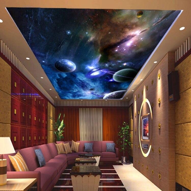 3D Star Universe Large Mural Wallpaper KTV Bar Mall Hotel