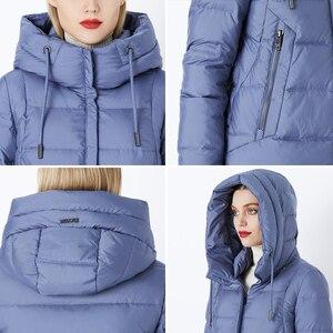 Image 5 - MIEGOFCE 2019 hiver nouvelle Collection Bio peluches à capuche femmes manteau dhiver Parka Style européen chaud élégant femmes veste dhiver