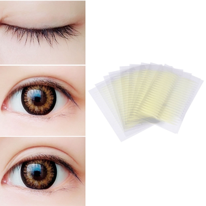40pcs 3D Invisible Olive Shaped Double Eyelid Sticker Adhesive Tape Makeup
