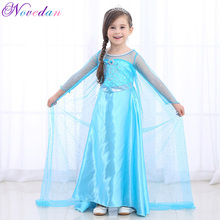 2019 Elsa Dresses For Girls Princess Anna Elsa Costume Cosplay Dress Kids Fancy Halloween Party Christmas Girls Dresse Sets kids girls halloween christmas party dresses snow white anna elsa minnie princess tutu dress children dance cosplay cute costume