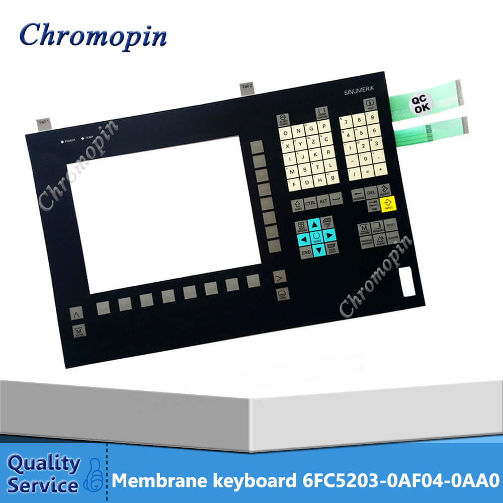 Membrane keyboard for 6FC5203-0AF04-0AA0 6FC5 203-0AF04-0AA0 keypad membrane for SINUMERIK OP010 touch screen for 6fc5403 0aa20 0aa0 sinumerik ht8 fast delivery