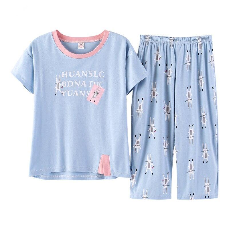 Spring Autumn Pyjamas Cotton Pj Pajamas Set Women Cartoon Sleepwear Women's Pajama Sets Pijamas Mujer Girl Pyjamas Home Clothes