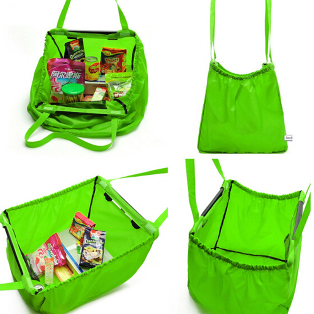ac55d0f7fd0 Reusable Bag Oxford Shopping Grocery Bag Foldable Portable Supermarket  Large Capacity Shopping Trolley Grab Bag Top