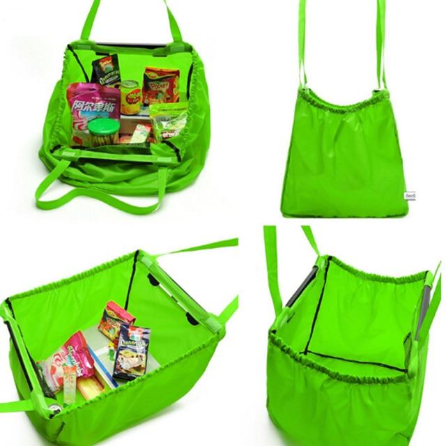 reusable bag oxford shopping grocery bag foldable portable