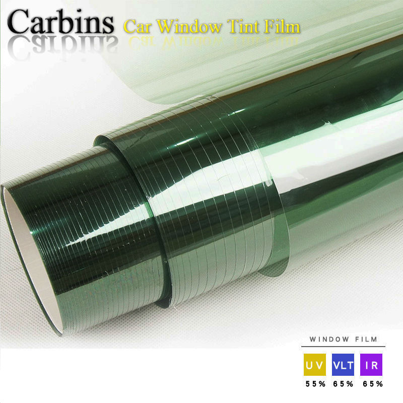 Light Green Window Tint Solar Film For Car Side Windshield 0.5*3m