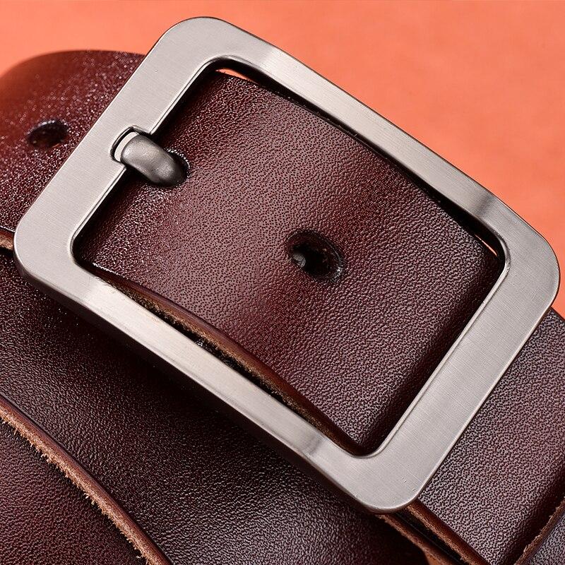[Dwts] cinto de couro de vaca masculina cintos de cinta de couro genuíno para homens fivela fantasia vintage jeans cintos masculinos ceinture homme