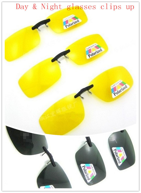 13e0749679 Best Selling Day vision glasses Yellow Lens Polarized Night Vision Flip Up  Clip On Driving GLASSES Las gafas de clip de