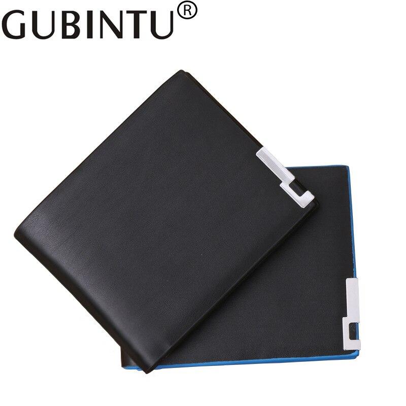 2019 GUBINTU Men Wallets Slim Short Design Card Holder Short Male Wallets Simple High Quality Blue Side Wallet For Boy