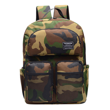 купить 2019 Fashion Camo Women Canvas Backpack Men Casual Rucksacks College Student School Backpack Women Backpacks Mochila Book Bags дешево