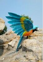 محاكاة الطيور الببغاء رغوة و الريش حول 40x60 سنتيمتر نشر أجنحة الببغاء اليدوية ، تأثيري ، حديقة الديكور لعبة هدية a1809