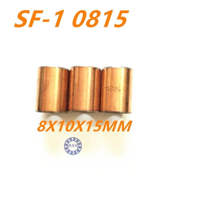 Free shipping 5Pcs SF1 SF-1 0815 0812 0810 0808 0806 0804 Self Lubricating Composite Bearing Bushing Sleeve 8x10x15mm 10pcs sf1 sf 1 2020 self lubricating composite bearing bushing sleeve 20 x 23 x 20mm free shipping high quality