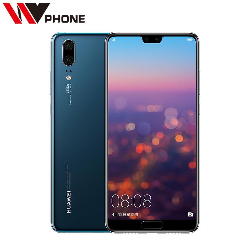Original Huawei P20 4G LTE Kirin 970 Octa Core 6G RAM 64G ROM 5.8inch 2244*1080P Dual Rear Camera Fingerprint NFC