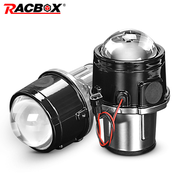 цена на Metal 2.5 inch Bi-Xenon HID Auto Car-Styling Fog Light Projector Lens Hi/Lo Universal Fog Lamp Car Retrofit H11 HID Led Bulbs