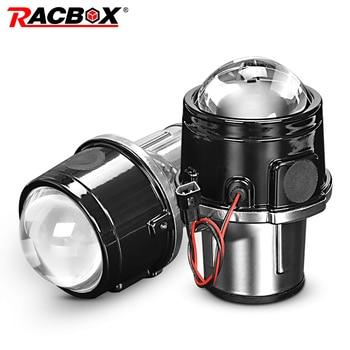 Metal 2.5 inch Bi-Xenon HID Auto Car-Styling Fog Light Projector Lens Hi/Lo Universal Fog Lamp Car Retrofit H11 HID Led Bulbs