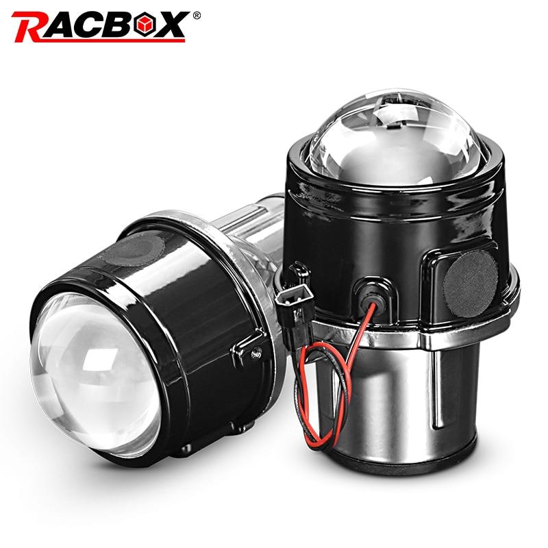 Metal 2,5 pulgadas bi-xenon HID Auto-Styling luz antiniebla proyector lente Hi/Lo Universal lámpara antiniebla coche Retrofit H11 HID bombillas Led