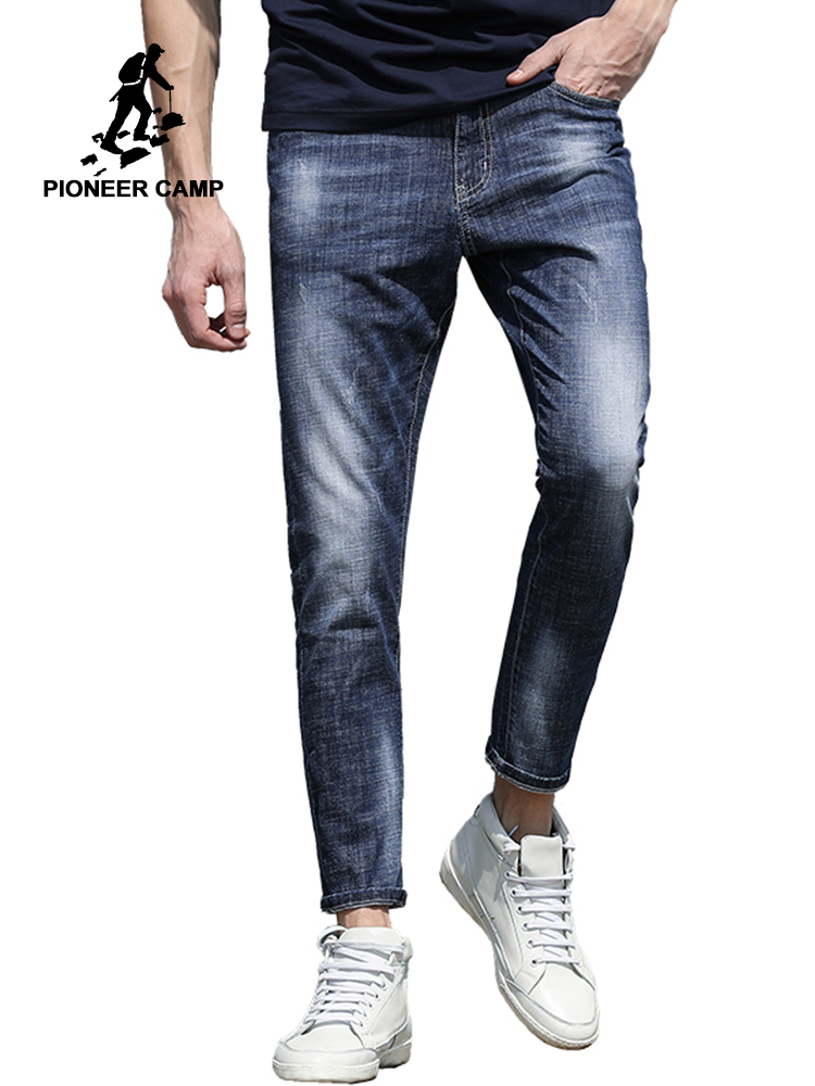 Pioneer Camp New Arrival Jeans Pants Men Brand Clothing Slim Fit Fashion Denim Trousers Male Top Quality Pencil Pants ANZ707017