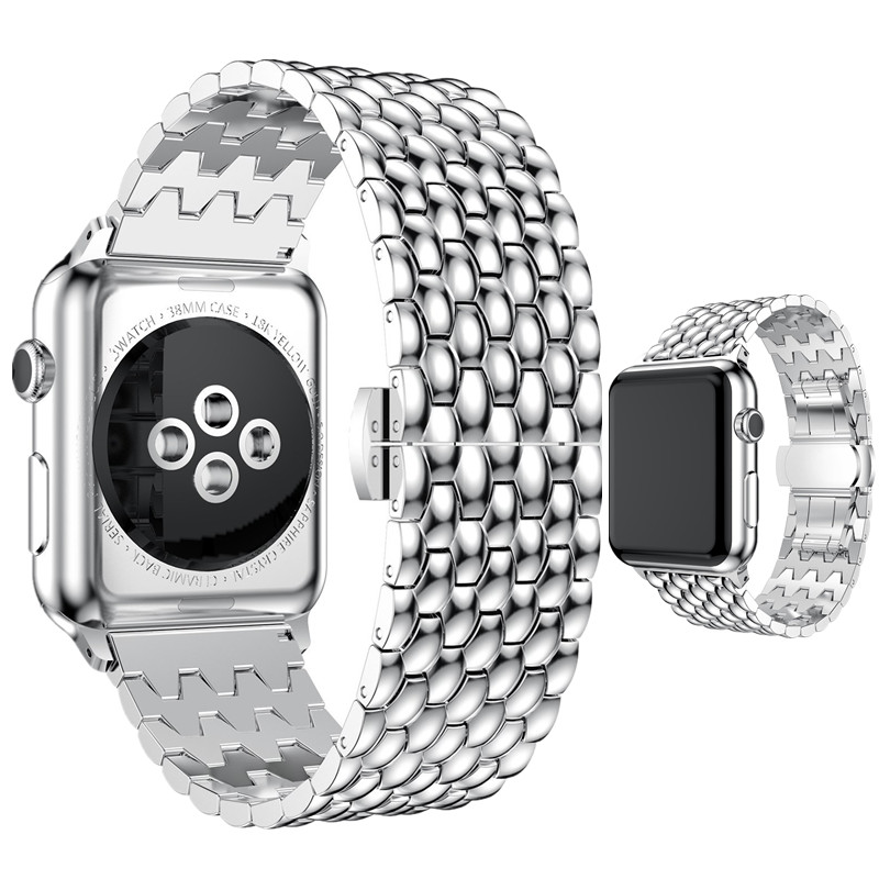 ASHEI Metal Bracelet for Apple Watch Band 3 2 1 Watchbelt Stainless Steel Wristband Replacement Strap for iWatch Bands42mm 38mm fashion metal stainless steel mesh watch strap for apple watch iwatch wristwatch strap black silver 38mm 42mm replacement