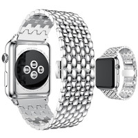 ASHEI Metal Bracelet For Apple Watch Band 3 2 1 Watchbelt Stainless Steel Wristband Replacement Strap