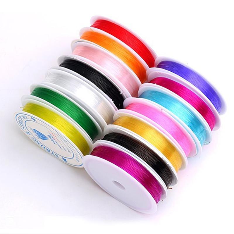 1pcs Colorful Strong Crystal Stretch Beaded String String DIY Bracelet Bracelet Jewelry Production Remarks Size