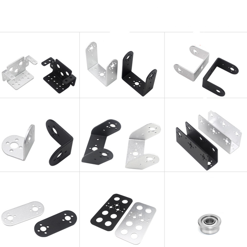 2pcs Single-axis servo steering gear accessories bracket summary / general purpose servo bracket DIY robot arm robot accessories