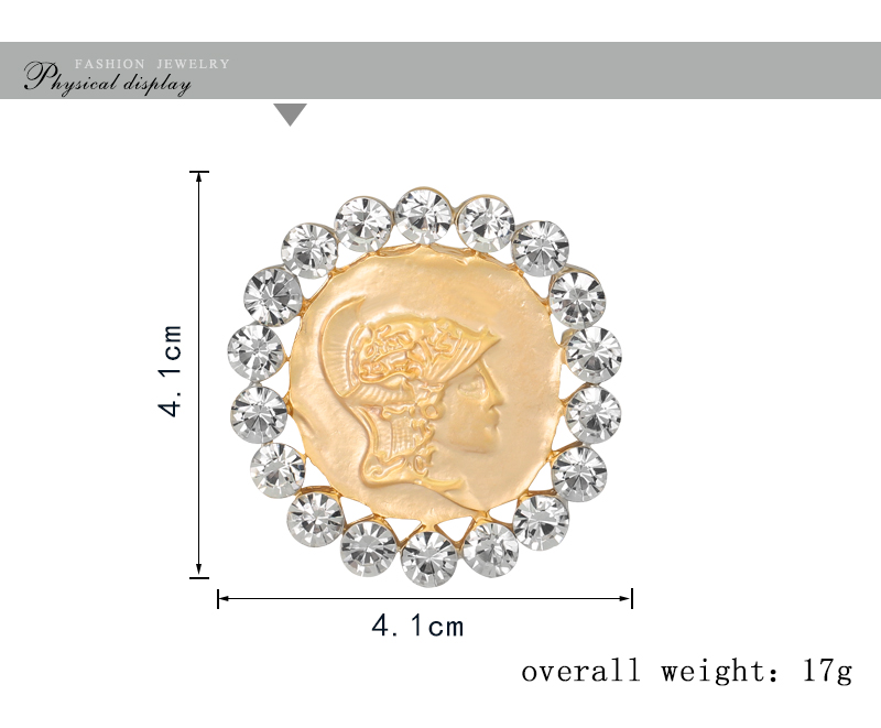 Vintage Antique Gold Cameo Beauty Queen Brooches Pins Cystal Enamel Fashion  Rhinestone Brooches For Women Christmas Gift-in Brooches from Jewelry ... 5d22f6c60262