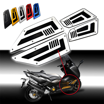 FOS-YA001-SV Sliver Front and Rear Motorcycle Foot Pegs Footboard Step for Yamaha TMAX T Max 530