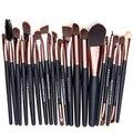 20 unids Cepillos Del Maquillaje Fundación Sombra de Ojos Mascara Lip Brush Nariz Herramienta de maquillaje de Alta Calidad de pelo de Cabra Maquillaje Set VD087 P10