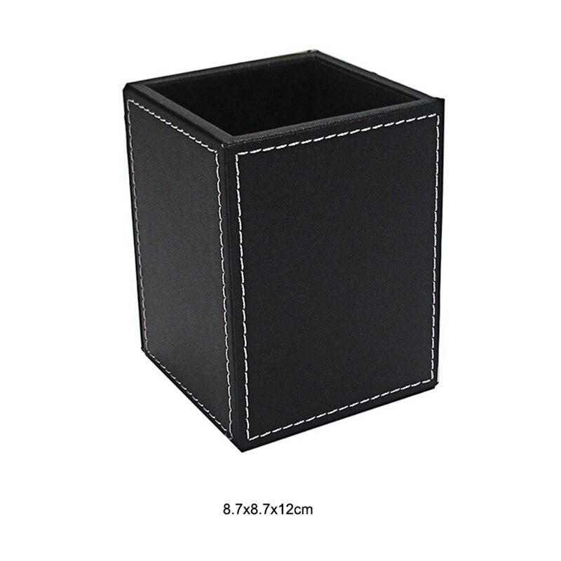 Из искусственной кожи с настольной подставкой косметический уход за кожей макияж организатор настольная подставка для ручек аксессуары для хранения сетки контейнер подарки коробка чехол - Цвет: B1