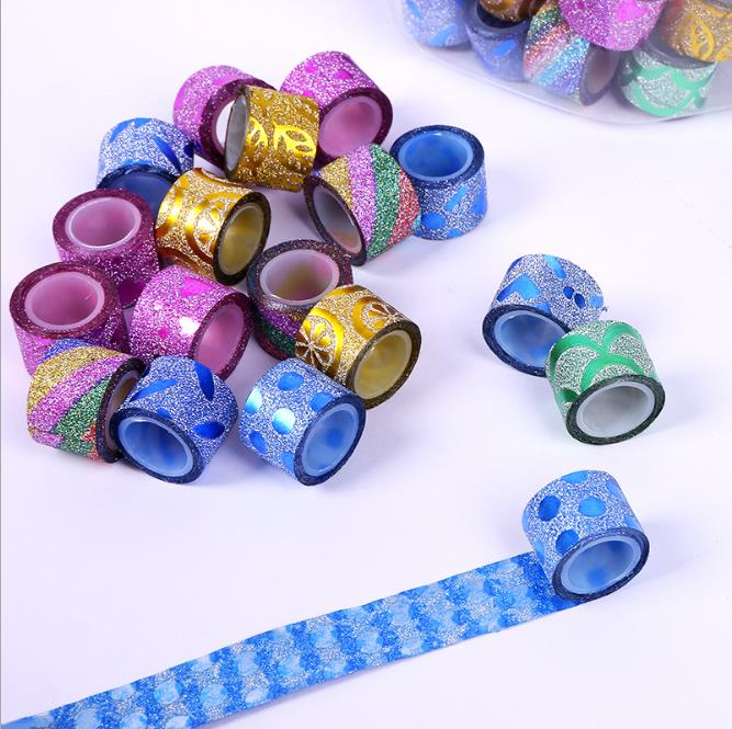 20pcs/lot Mini Colorful Powder Painting Decorative Tape Scotch DIY Scrapbooking Sticker Label Masking Tapes(no Box)1.4cm*1m
