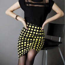 Yellow plaid mini skirt online shopping-the world largest yellow ...