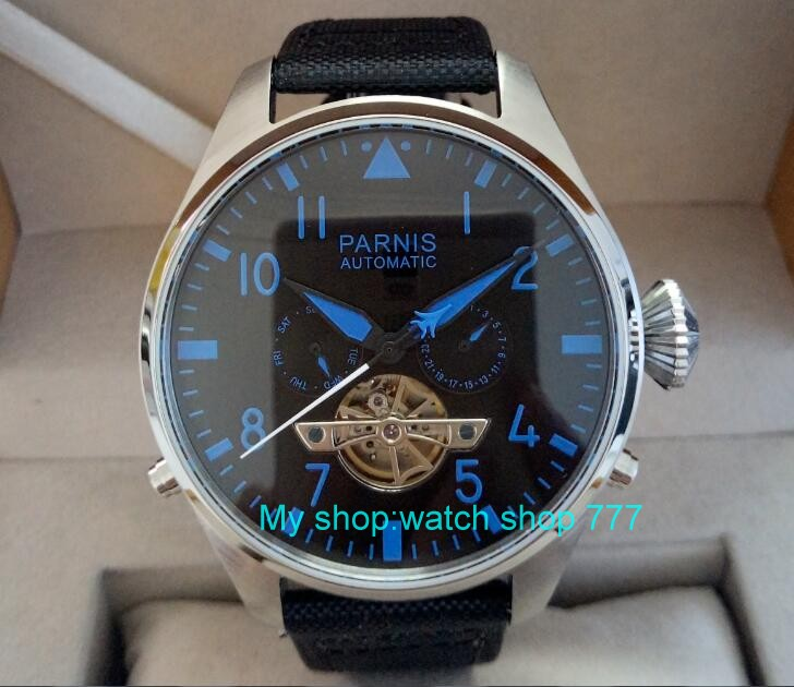 47mm big dial PARNIS Asian st25 Automatic mechanical movement men watches Mechanical watches 436a