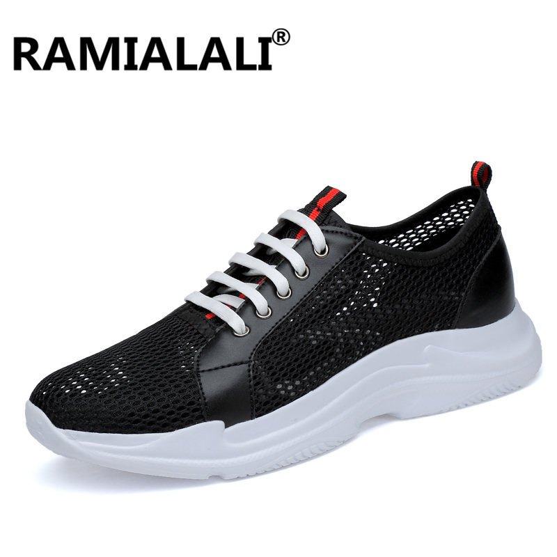 uomo Luxury traspirante Designer Brand Calzature Sneakers grandi dimensioni Casual Scarpe Ramialali Mesh di da Summer nere di CBqFFw