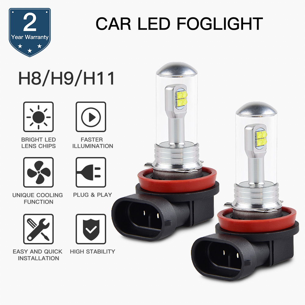 Motorcycle 100W/Pair H11 Headlight <font><b>LED</b></font> Bulbs Lamp For <font><b>BMW</b></font> <font><b>R1200R</b></font> 2006 2007 2008 2009 2010 2011 2012 2013 2014 image