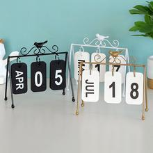 Новая мода железная имитация птица страница токарный календарь домашний рабочий стол Декор подарок