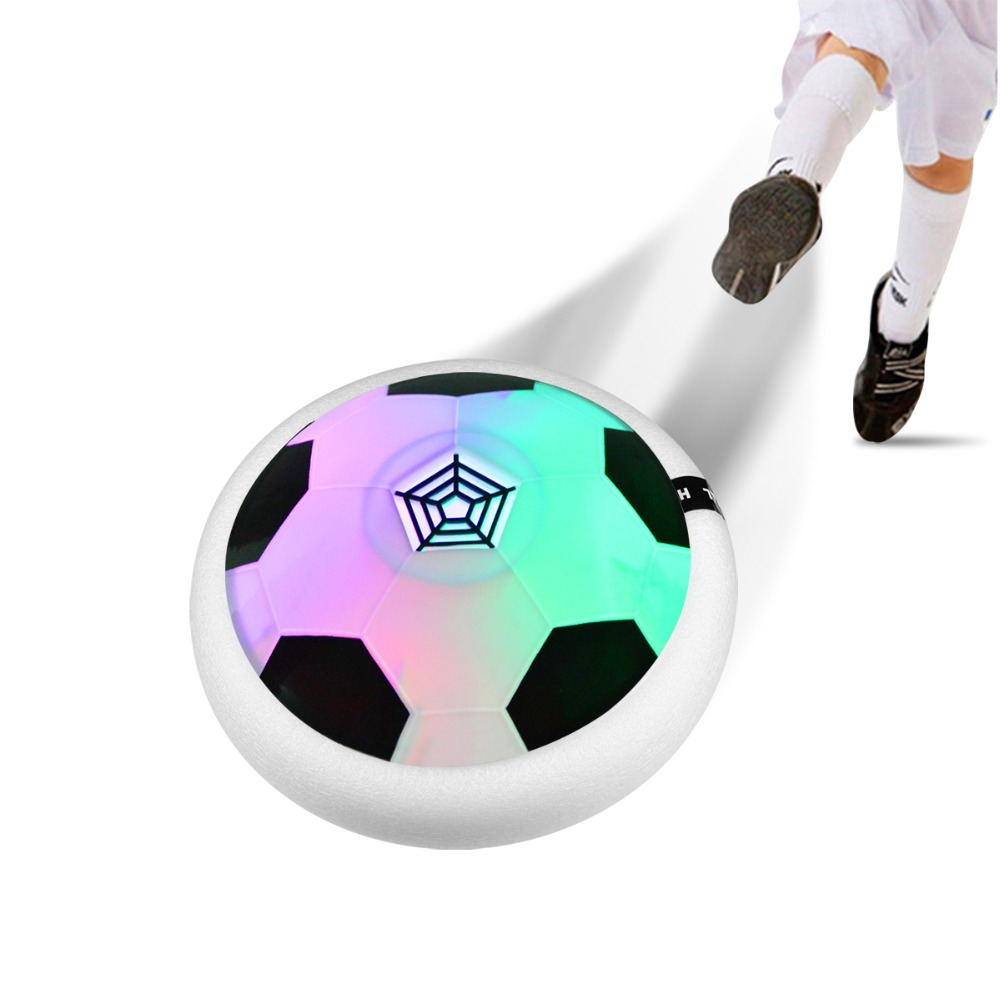 Led Lamp Drijvende Air Power Voetbal Muziek Zweefvliegen Voetbal Licht Kinderen Speelgoed Indoor Sport Kinderen Nieuwe Jaar Kerst