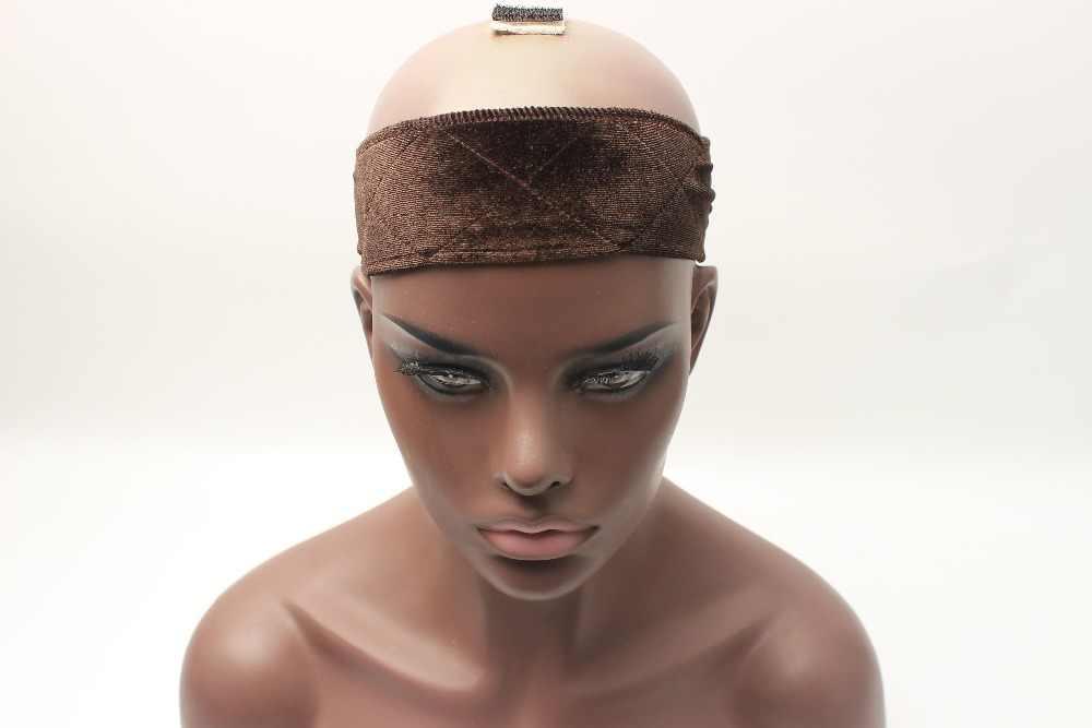 Топ Гибкая бархатная головная повязка с захватом шарф комфортная повязка на голову регулируемый Fastern парик бежевый коричневый черный загар