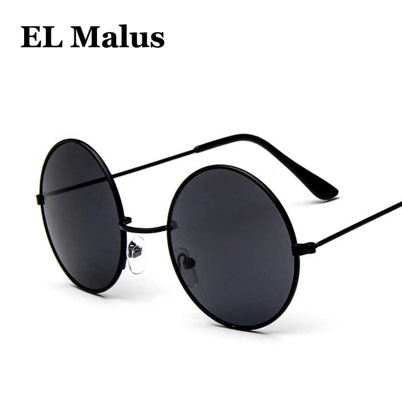 fe5c886936ed Detail Feedback Questions about [EL Malus]Round Frame Sunglasses Men Women  Retro Vintage Gold Black Lens Sun Glasses UV400 Male Female Metal Eyewear  Driving ...