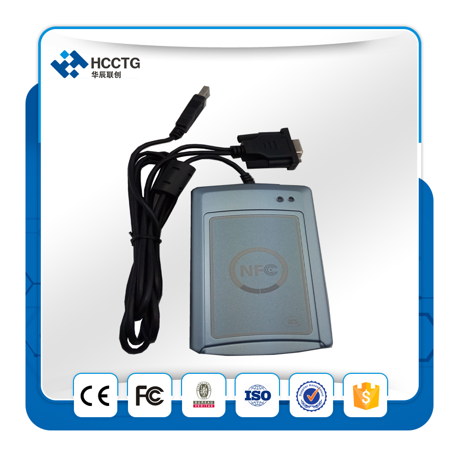 RS232+ USB Contactless Smart Card/Tags NFC Reader and Writer 13.56MHZ RF Support all 4 types of NFC tags-ACR122s
