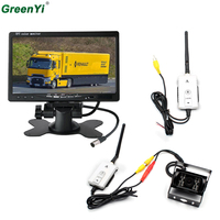 2 4GHZ Wireless Car Monitor 7 800 480 Color TFT LCD Car Rear View Rearview Monitor